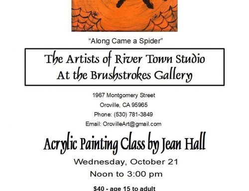 Acrylic Painting Class By Jean Hall – Spider